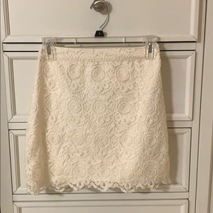 Hollister Lace White Skirt!